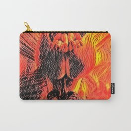 Flames in bedroom - erotic photography rework, sexy onion booty slave girl in submissive pose, BDSM Carry-All Pouch