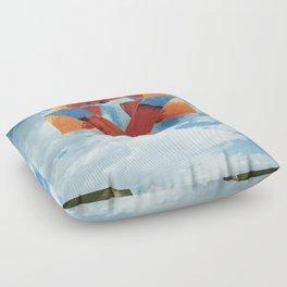 Orange Sky Floor Pillow
