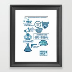 The Office - quotes and quips and stuffs Framed Art Print