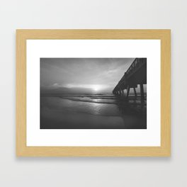 Pier and Surf Framed Art Print