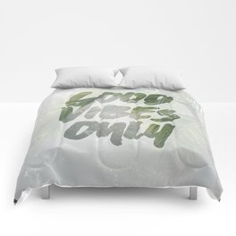 Good Vibes Only Palm Trees Comforters