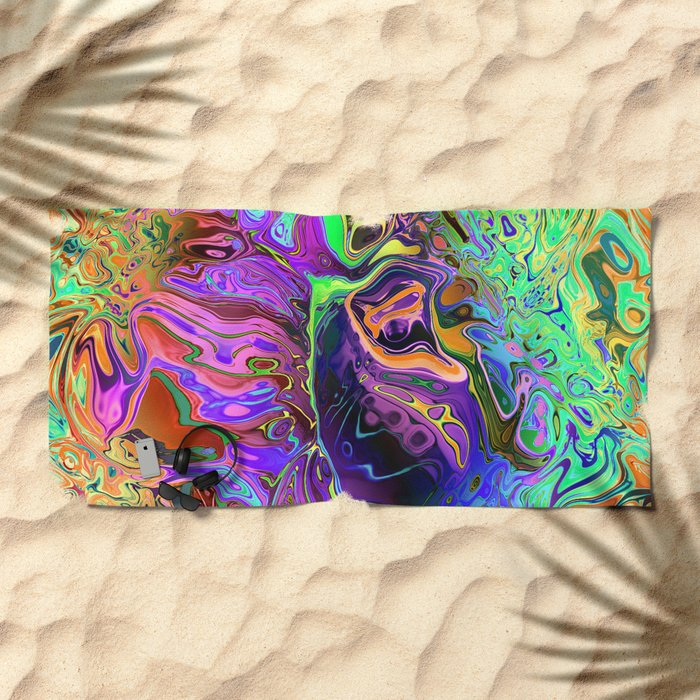 Reflective Colors Abstract Beach Towel