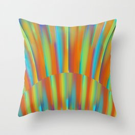 Cooling Metal Copper and Blues Design Throw Pillow