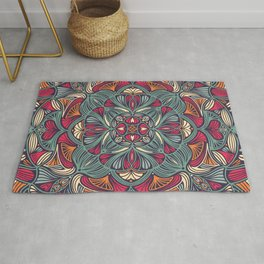 Colorful Mandala Pattern 014 Rug