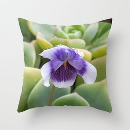 little violet in the morning Throw Pillow