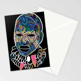 Voodoo Portrait with ethnic ornaments Stationery Cards
