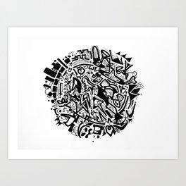 Doodleball Art Print