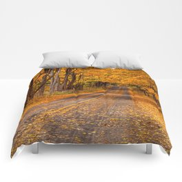 Fall Rural Country Road Comforters