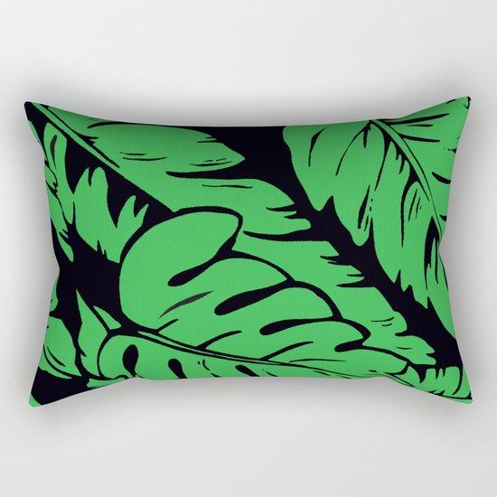 PALM LEAF GREEN Rectangular Pillow
