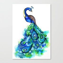 Abstract Peacock Canvas Print