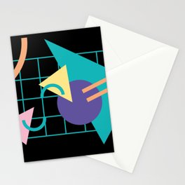 Memphis pattern 40 - 80s / 90s Retro Stationery Cards
