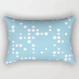 White Dots on Baby Blue Rectangular Pillow