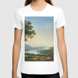 The River Volturno in the Italian Apennines by Jakob Philipp Hackert T-shirt