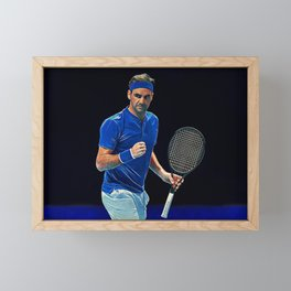 Tennis legend Roger Federer Framed Mini Art Print