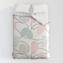 Abstract pattern with hand drawn shapes and doodle elements Comforters