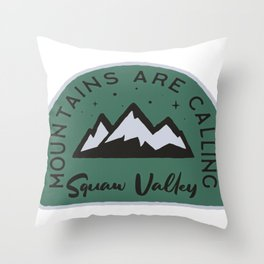 Squaw Valley Mountains are Calling Throw Pillow