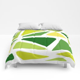 Green and yellow shapes Comforters