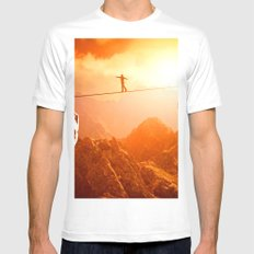 Life Road Mens Fitted Tee MEDIUM White