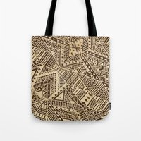tribal Tote Bags featuring Tribal  by Terry Fan