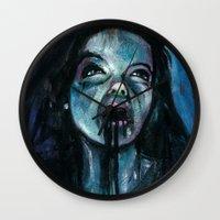 bjork Wall Clocks featuring BJORK by chris zombieking