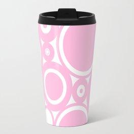 Abstract dots and circles - abstract pattern - pink #Society6 Travel Mug