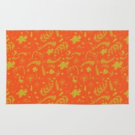Yellow/green + Orange Spring Folliage SS18 Rug