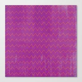 Abstract geometrical magenta pink orange watercolor chevron Canvas Print