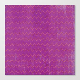 Abstract geometrical magenta pink orange watercolor chevron Canvas Print