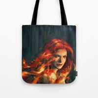 war Tote Bags featuring War by Alice X. Zhang