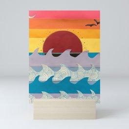 Paper Sunset Mini Art Print