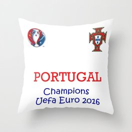 Champion Uefa Euro 2016 Portugal Throw Pillow