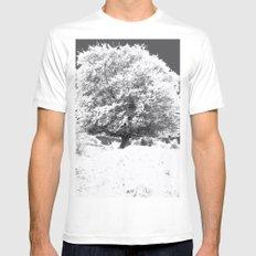 Snow Tree White Mens Fitted Tee MEDIUM