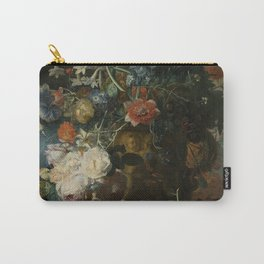 Jan van Huysum - Still life with flowers and fruits (1721) Carry-All Pouch