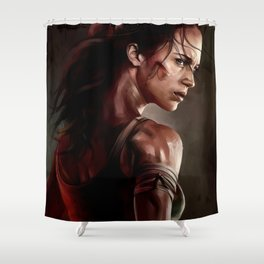 Tomb Raider Shower Curtain