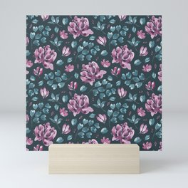 They Only Come Out At Night - Beautiful Abstract Flowers Mini Art Print