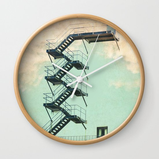 Stairway to the Clouds Wall Clock