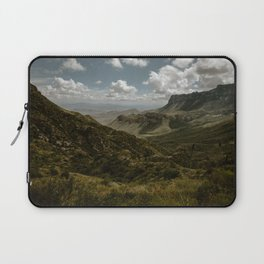 Cloudy Vibrant Mountaintop View in Big Bend - Lost Mine Trail Laptop Sleeve