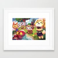 animal crossing Framed Art Prints featuring Animal Crossing by Attyca