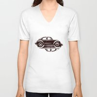 ying yang V-neck T-shirts featuring VW Ying and Yang by Vin Zzep
