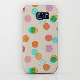 Smiley Face Stamp Print iPhone Case