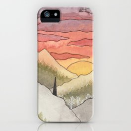 Rusty Light on the Pines iPhone Case
