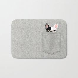 Pocket French Bulldog - Pied Bath Mat