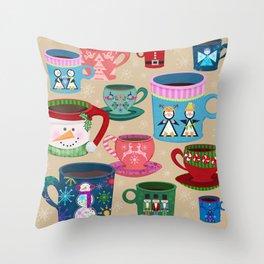Fa La La La Latte Throw Pillow
