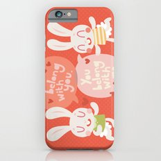 'I belong with you' Bunny Valentines Day Card Slim Case iPhone 6s
