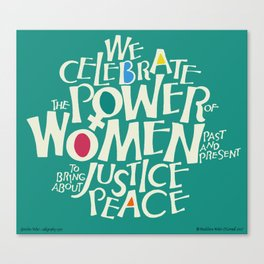 The Power of Women Canvas Print