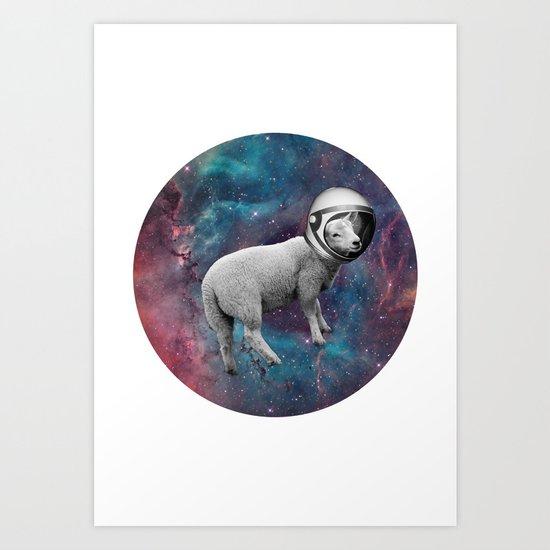 The Space Sheep 2.0 Art Print
