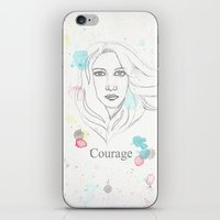 courage iPhone & iPod Skins featuring Courage by Tammy Kushnir