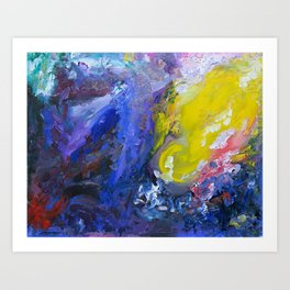 Out there. Art Print