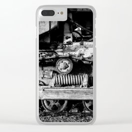 Vintage Caterpillar Tracks Clear iPhone Case