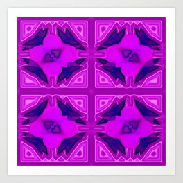 Softly lilac ornamentation Art Print